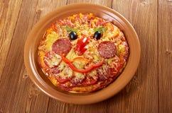 Smiley смотрел на пиццу Стоковое Изображение RF