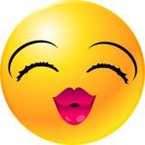 smiley стороны emoticon Стоковые Фото