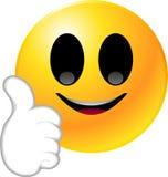 smiley стороны emoticon Стоковое фото RF