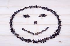Smiley сделанный полностью из зерен кофе Стоковые Фотографии RF