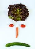Smiley с овощами Стоковые Изображения RF
