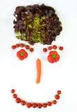 Smiley с овощами Стоковые Изображения