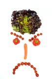 Smiley с овощами Стоковая Фотография
