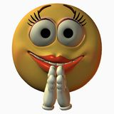 Smiley. 3D Toon Render Stock Images