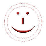 The Smiley. The famous smiley emoticon with many other emoticon friends around his face Royalty Free Stock Photography
