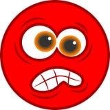 сердитый smiley иконы Стоковые Фото