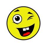 Smiley alegre em um fundo branco Fotos de Stock