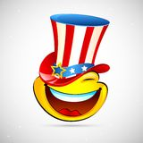 Smiley with American Hat Stock Photos