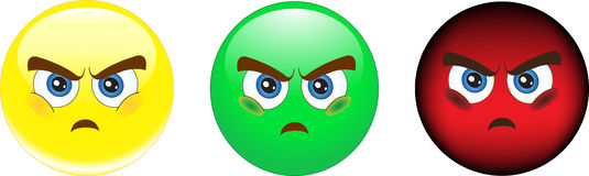 Smiley. Anger. Resentment. Stock Photo - smile, anger, resentment Stock Images