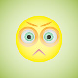 Smiley with angry emotion. Vector illustration eps10 Royalty Free Stock Image