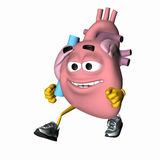 Smiley Aorta - Exercise Your Heart.  Royalty Free Stock Photo