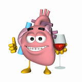 Smiley Aorta - Glass of Wine.  Stock Image