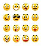 Smiley arancioni Immagine Stock Libera da Diritti