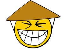 Smiley asiatico illustrazione vettoriale