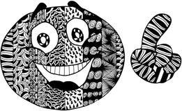 Smiley astratto Immagine Stock