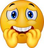 Smiley asustado historieta del emoticon Fotos de archivo