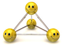 Smiley-atom Stock Photography