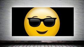 Smiley auf Segeltuch stock video footage