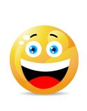 Smiley auf Weiß Lizenzfreies Stockfoto