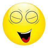 Smiley avec ses yeux fermés et sa bouche ouverte illustration libre de droits