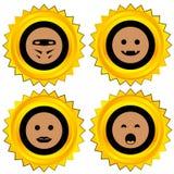 Smiley award icon set Royalty Free Stock Images