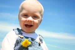 Smiley Baby Royaltyfria Bilder