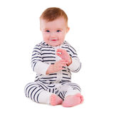 Smiley baby sitting Royalty Free Stock Image