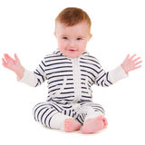 Smiley baby sitting Stock Images