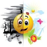 Smiley ball royalty free illustration