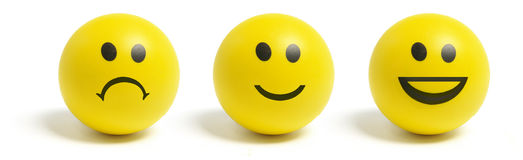 Smiley Balls Royalty Free Stock Photo