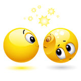 Smiley balls. Smiley ball being useful and servicing like a mirror Royalty Free Stock Image