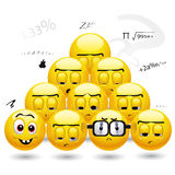 Smiley balls. Students getting bored and sleepy in classes Royalty Free Stock Photos