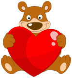 Smiley bear valentine Royalty Free Stock Photography