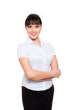 Smiley beautiful businesswoman Royalty Free Stock Photo