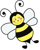 Smiley Bee Immagine Stock