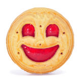 Smiley biscuit Stock Image