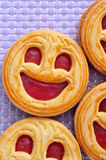Smiley biscuits Stock Photo