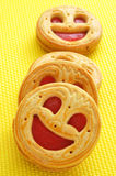 Smiley biscuits Stock Photography