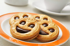 Smiley biscuits Royalty Free Stock Image