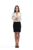 Smiley bizneswoman w formalnej odzieży fotografia royalty free