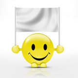 Smiley and  blank sign Royalty Free Stock Photography