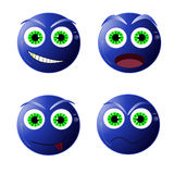 Smiley bleus d'amusement, illustration de vecteur Photo libre de droits