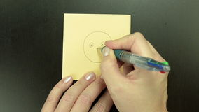 Smiley Blushing is sketched by ball pen stock video