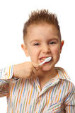 Smiley boy cleans a teeth Stock Photography