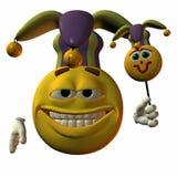 Smiley-Bufón Imagen de archivo