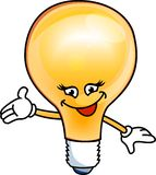 Smiley bulb electric Royalty Free Stock Photo