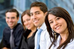 Smiley business group Stock Photo