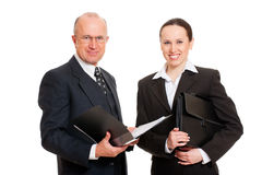 Smiley business people Royalty Free Stock Image