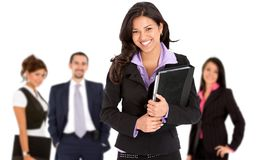 Smiley business woman Royalty Free Stock Photos