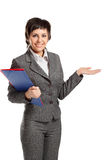 Smiley business woman Royalty Free Stock Photography